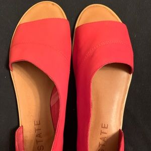1.State Red Open Toe shoes.  sz10